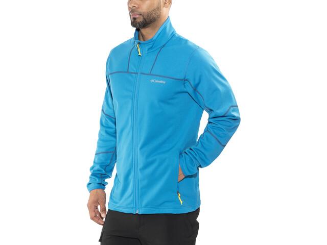 Columbia Walnut Hills Full-Zip Fleece Jacket Herren dark compass/acid yellow